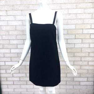 NWT Helmut Lang Black Lip Mini Slip Dress Sz Small